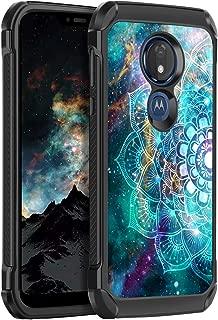 BENTOBEN Moto G7 Power Case, Moto G Power 7th gen Case, Moto G7 Supra Case, 2 in 1 Soft TPU Bumper Hard PC Glow in The Dark Protective Case for Motorola Moto G7 Power/Moto G7 Supra, Mandala in Galaxy
