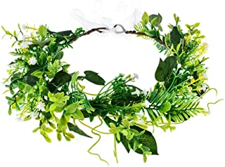 Floral Fall Artificial Baby Breath Flower Halo Wedding Crown Lilac Bridal Headpiece Greenery Crown HC-24