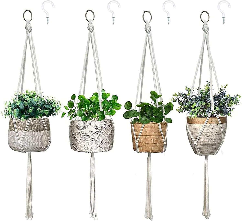Wizdar Macrame Plant Hanger Boho Super sale Mesa Mall Flower Planter Hanging Basket