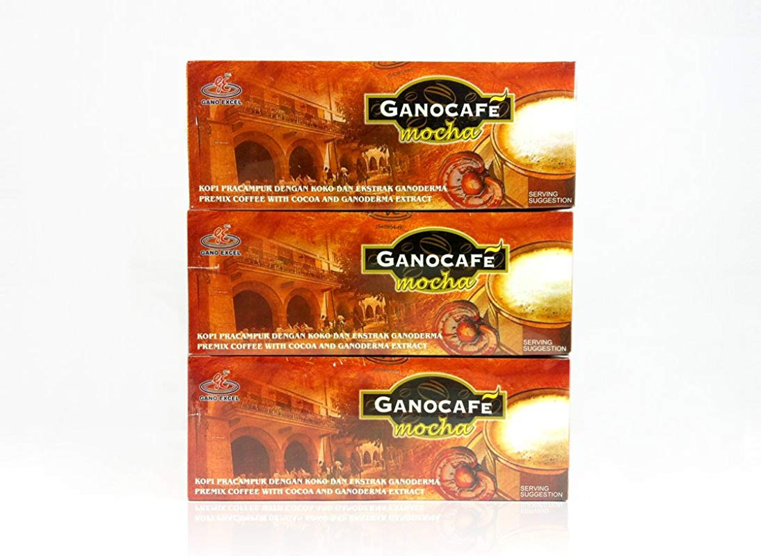 Gano Excel Mocha Coffee With Ganoderma Lucidum Extract 3 Boxes Pack FREE EXPRESS SHIPPING 2 3 Days FREE Sachets