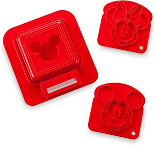 Mickey and Minnie Mouse Sandwich Stamp and Crust Cutter Set - Disney Eats…