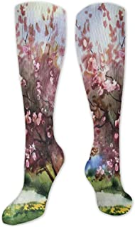Fuliya, Calcetines altos de compresión con patrón hexagonal de panal de abeja, monocromo geométrico simplista, calcetines para mujeres y hombres, ideales para correr, atletismo, senderismo, viajes, vuelo.