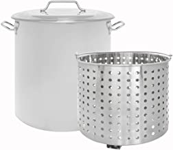 CONCORD Stainless Steel Stock Pot w/Steamer Basket. Cookware great for boiling and steaming (24 Quart)