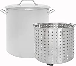 CONCORD Stainless Steel Stock Pot w/Steamer Basket. Cookware great for boiling and steaming (80 Quart)