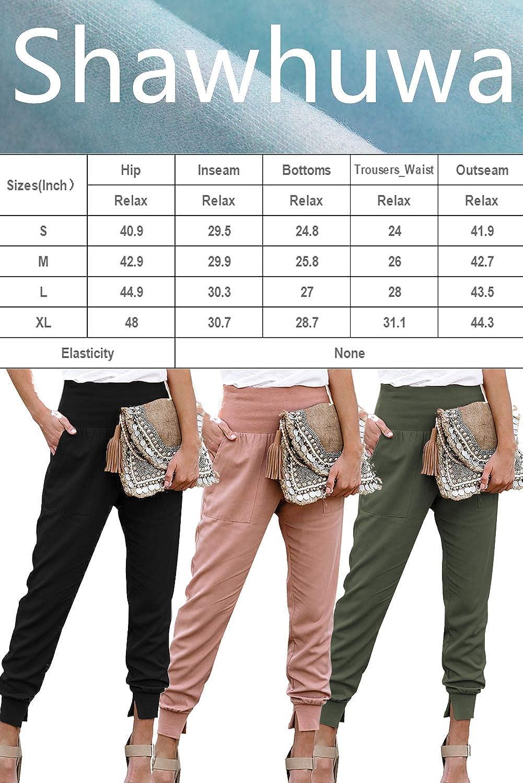 Shawhuwa Womens Pants Jogger Sweatpants Casual Loose Drawstring Waist Jogging Pants with Pockets
