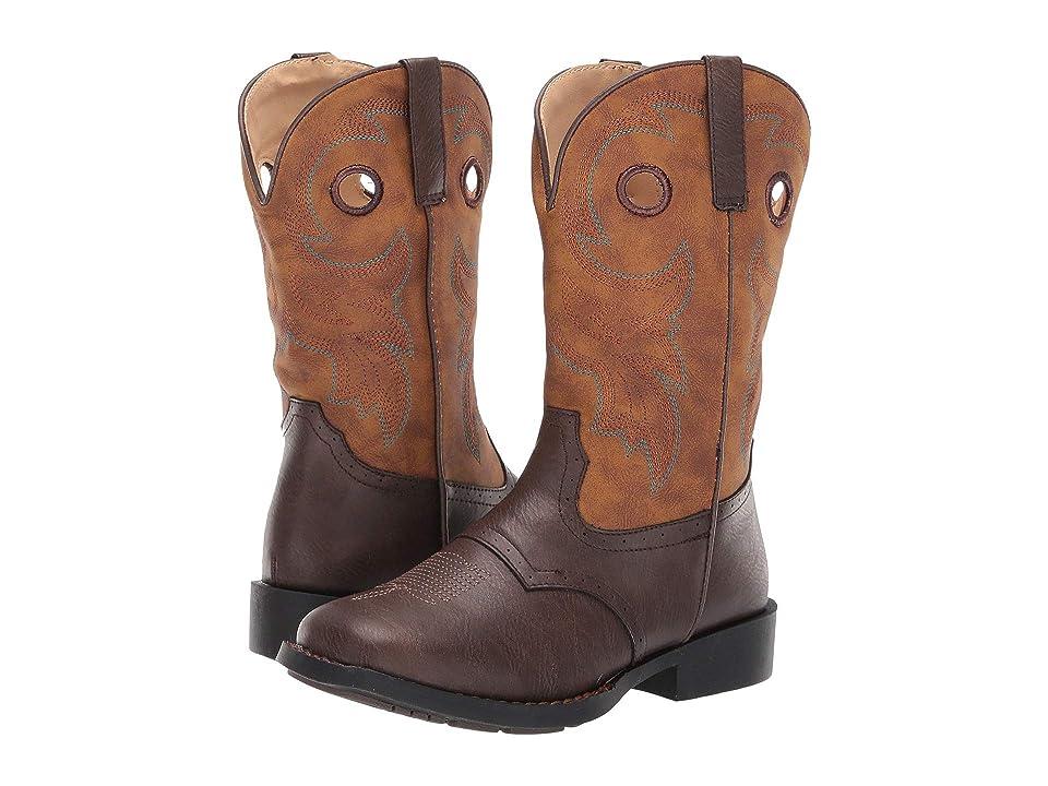 Roper Kids Daniel (Toddler/Little Kid) (Brown Vamp/Vintage Tan Shaft) Cowboy Boots