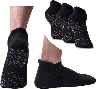 Men's Non-Slip Yoga Socks, Anti-Skid Pilates, Barre, Fitness Hospital Slipper Socks with Grips