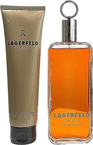 Karl Lagerfeld Classic 2 Pieces Gift Set for Men: Eau de Toilette 150ml + Shower Gel 150ml