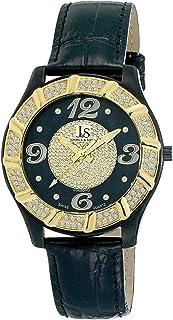 Joshua & Sons Men's JS-17-BK Swiss Quartz Diamond Watch