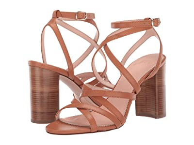 J.Crew Strappy Stella in Leather (Roasted Pecan) Women