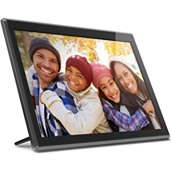 AUSWIEI 17-inch High-Definition Digital Photo Frame Advertising Machine Resolution 1920x1200 Support 1080p HDMI Input Color : Black, Size : 420x282x30mm