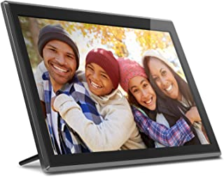 "Aluratek 17.3"" WiFi Digital Photo Frame with Touchscreen IPS LCD Display & 16GB Built-in Memory, Photo/Music/Video (AWS17F)"