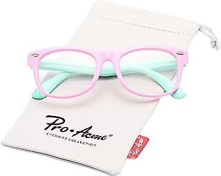 Pro Acme TPEE Rubber انعطاف پذیر بچه گانه Nerd عینک روشن لنز Geek جعلی برای لباس (سن 3-10)