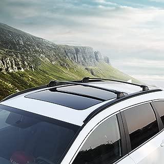 4 PC Roof Rail Rack + Cross Bar for Honda CRV CR-V 2017 2018 2019 Luggage Baggage Black