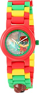 LEGO Batman Movie 8020868 Robin Kids Minifigure Link Buildable Watch | Red/Green | Plastic | 25mm Case Diameter| Analog Quartz | Boy Girl | Official