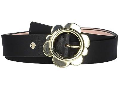 Kate Spade New York 35 mm Flower Belt (Black) Women