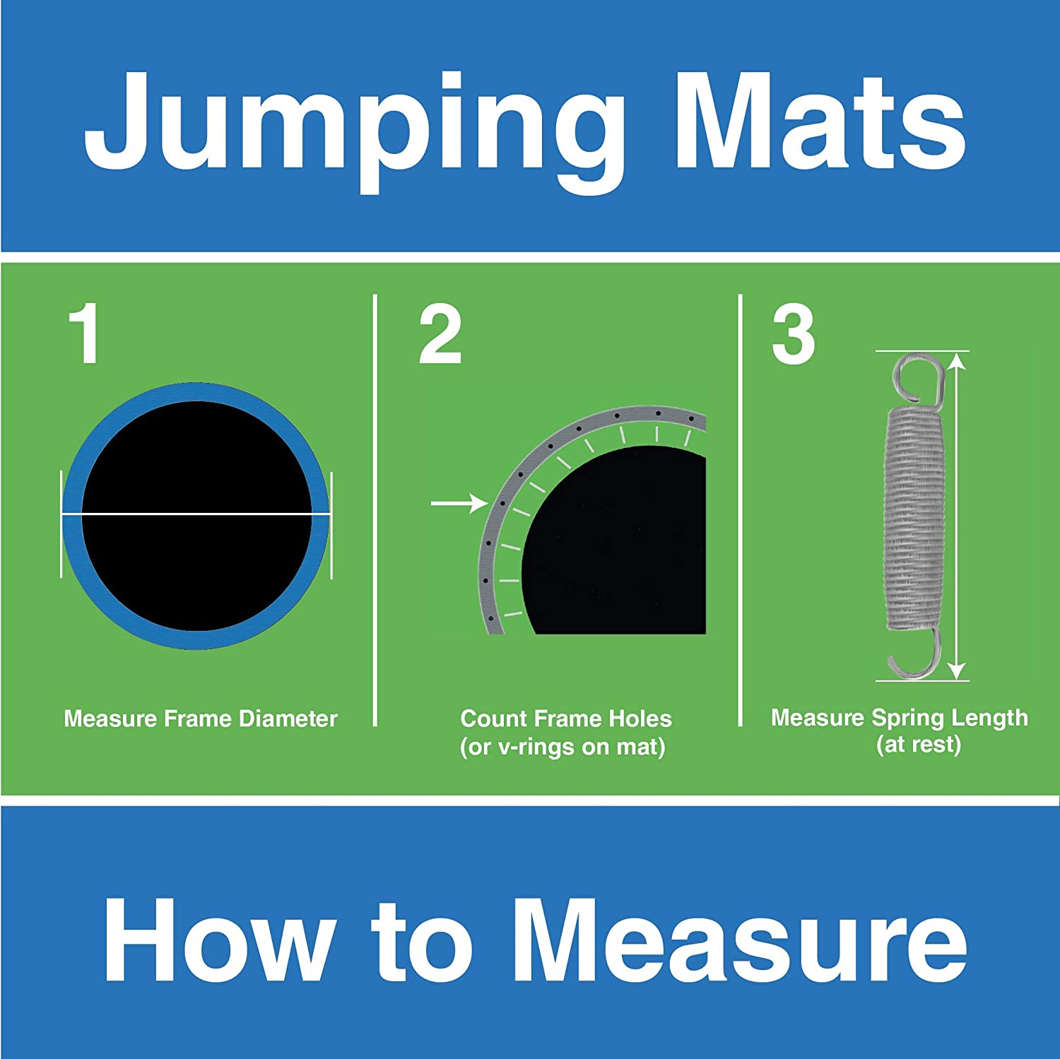 Replacement Trampoline Mats Choose Correct Frame Size Choose Correct Spring Size and Count Springs Not Included