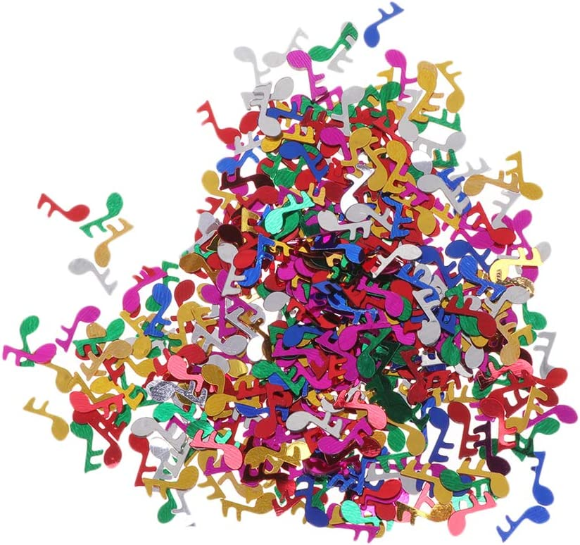 STOBOK Music Note Confetti Colorful Confetti Party Table Decor for Wedding Birthday Bridal Shower Music Party