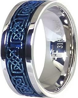 alianza de boda azul eléctrico