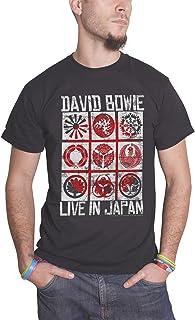 David Bowie デビッド・ボウイ Live In Japan Tour 日本ツアー・ライブ 公式 メンズ ブラック Tシャツ 全サイズ