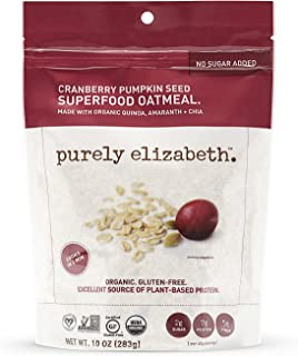 Purely Elizabeth Gluten-Free, Organic, Superfood Oatmeal, Cranberry Pumpkin Seed,(Packaging may vary) 10 Ounce