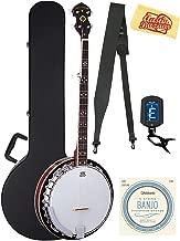 Oscar Schmidt OB5-O-U 5-String Banjo - Mahogany Bundle with Case, Strings, Tuner, Strap, and Austin Bazaar Polishing Cloth