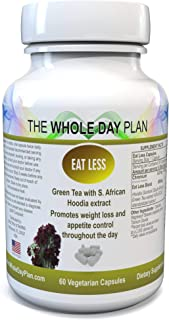 EAT Less - #1 Weight Loss Pills on Amazon - Appetite Suppressant Fat Burning Supplements for Women and Men That Work Fast - Made in USA