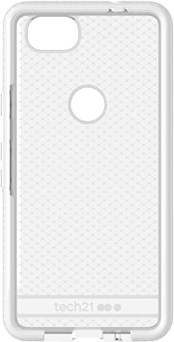 discount Tech21 Evo Check Protective Slim Case for wholesale Google Pixel lowest 2 - Clear/White online sale
