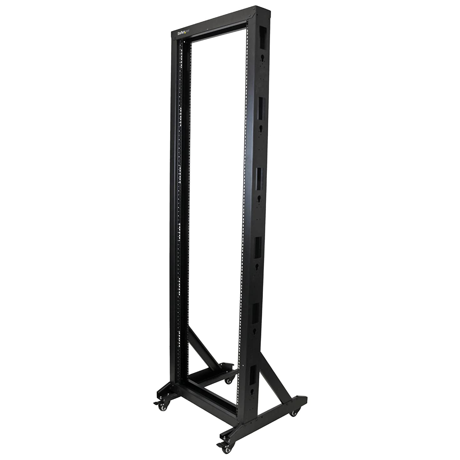 StarTech.com 2-Post Server Rack with Sturdy Steel Construction and Casters - 42U