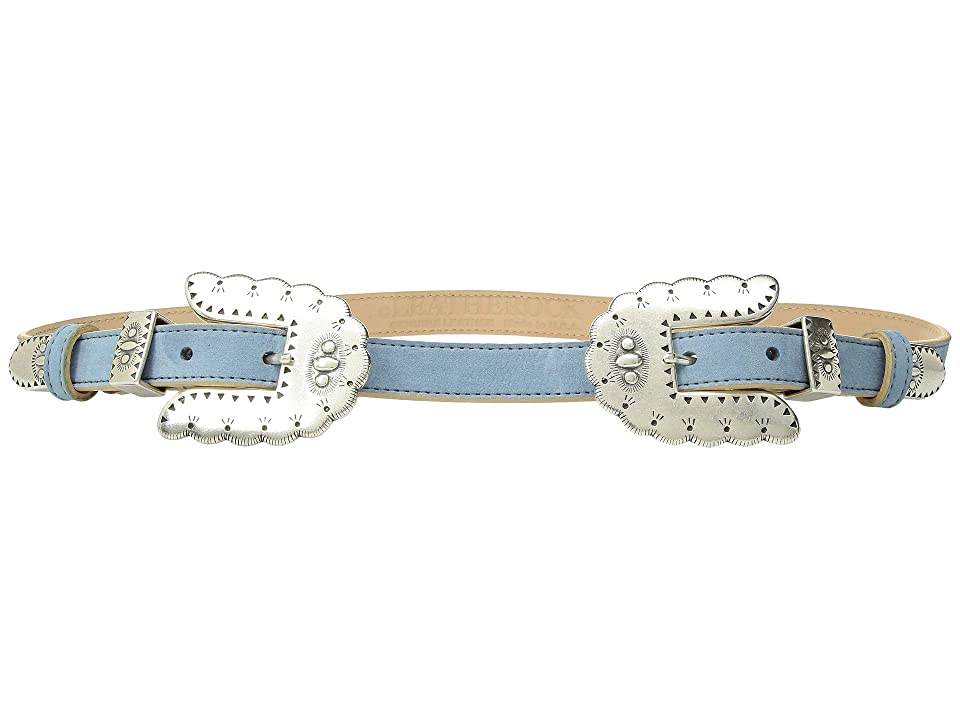 Leatherock Isabel Double Belt (Light Indigo) Women
