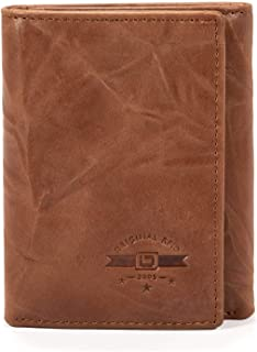 RFID Blocking Trifold Wallet for Men - Crazy Horse Western Leather