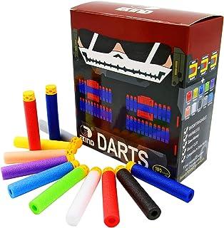 EKIND 100 Pcs 7.2cm TPR Waffles Soft Head Darts Refill Foam Bullet Compatible for Nerf Elite AccuStrike Series Blasters To...