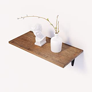 BAMFOX Floating Wall Shelf,Natural Bamboo Wall Decor Storage Shelf for Bedroom, Living Room, Bathroom, Kitchen, Office and More Brown
