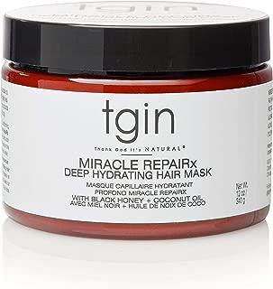 tgin Miracle Repairx Deep Hydrating Hair Masque For Natural Hair - Dry Hair - Curly Hair
