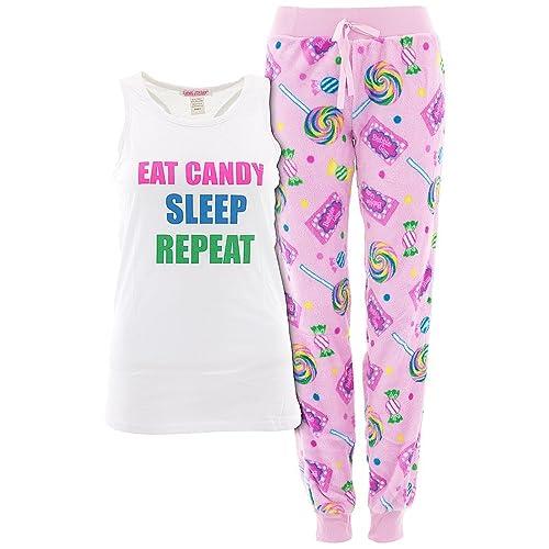 acde4c8e84ea Emme Jordan Juniors Novelty Racerback Pajamas