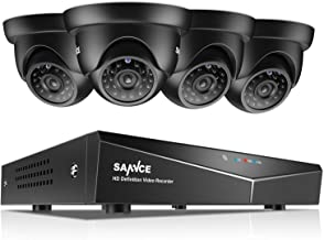 SANNCE Security Camera System 8CH HD-TVI 1080N DVR and (4) HD 720P/1280TVL Indoor/Outdoor Weatherproof Surveillance Cameras, Motion Alert, Smartphone, PC Easy Remote Access - NO HDD