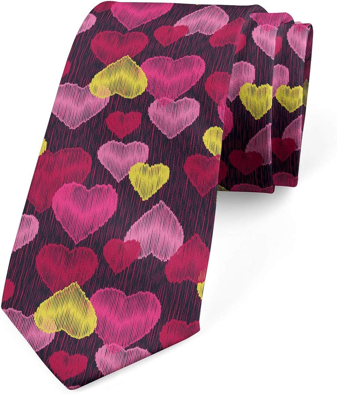 Lunarable Men's Tie, Ornamental Modern, Necktie, 3.7