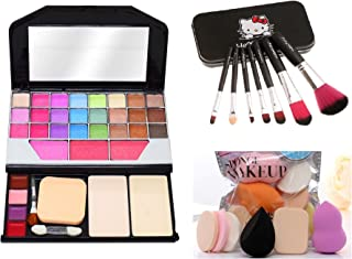 MY TYA Fashion Makeup Kit for Girls + Premium Makeup Brushes + Insta Beauty Makeup Sponges (Black Brush + 6155)