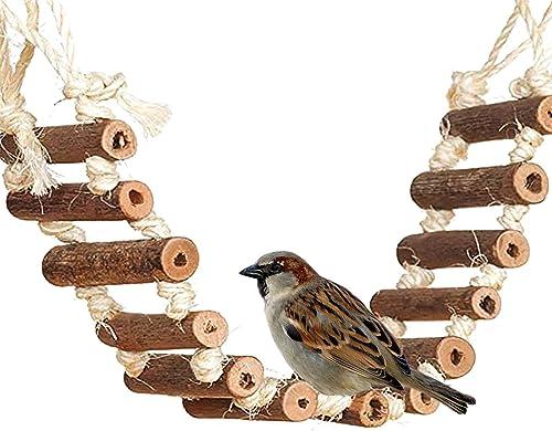 discount Rope Ladder Bird Toy, Bird Ladder Rope, Naturals Rope Wooden Ladder Bird Toy Swing Ladder Toy for Parrots Pet popular Hamster Bird Bird Parrot Toys online Ladders Swing Chewing Toys Hanging Pet Bird Cage Accessories online