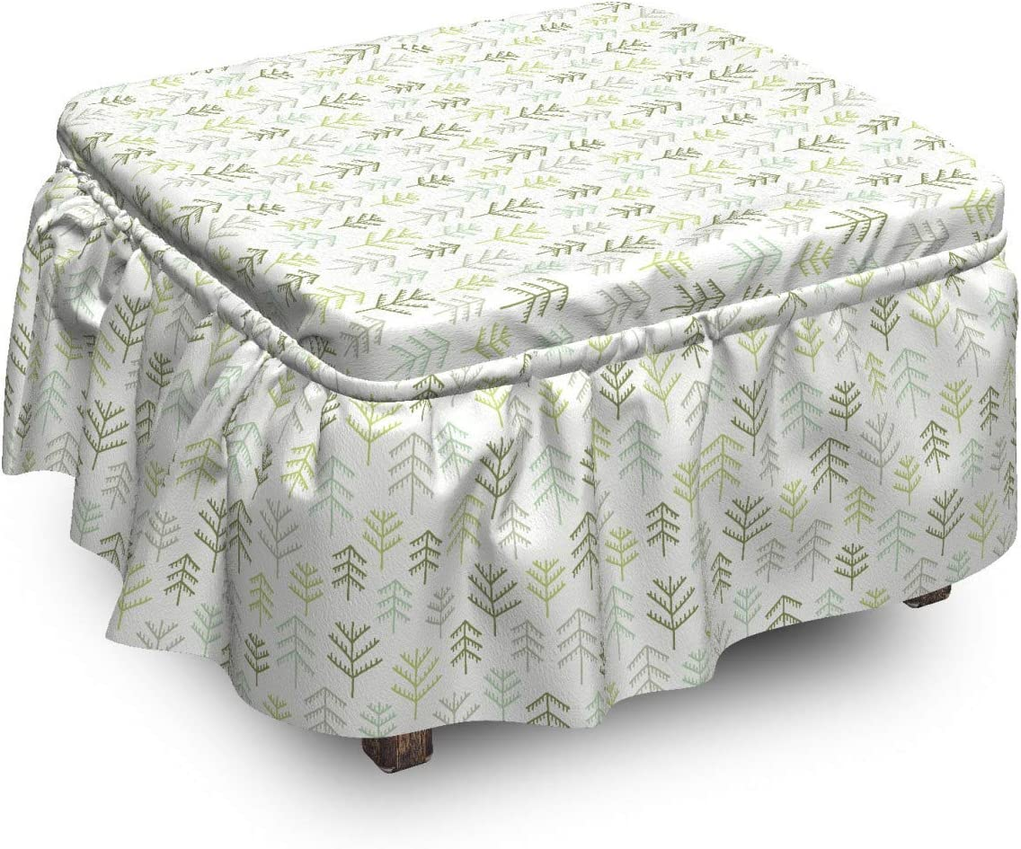 Ambesonne Nature Ottoman Cover half Simple Design Art Fir P 2 Don't miss the campaign Trees