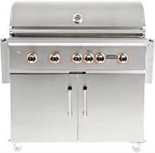 Coyote S-series 42-inch 5-burner Freestanding Propane Gas Grill With Rapidsear Infrared Burner & Rotisserie