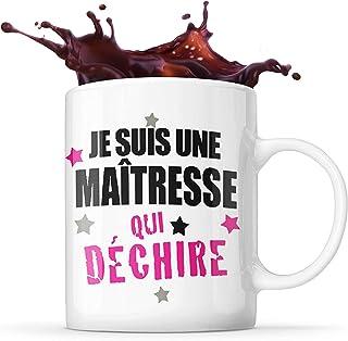 Mug Life Mug Cadeau de Fin d'Année pour « Une Maîtresse Qui Déchire » | Résistant au Lave-Vaisselle et Micro-Ondes | Haute...