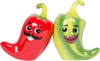 1 X Hot Chili Peppers Magnetic Salt & Pepper Shakers S/P