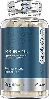 Suplemento Multivitamínico Immune Nu. Para Fortalecer Sistema Inmunológico | Con Antioxidantes Potentes. Jalea Real. Vitamina C. Vitamina D3. Jengibre y Acerola. 60 Cápsulas. 100% Natural