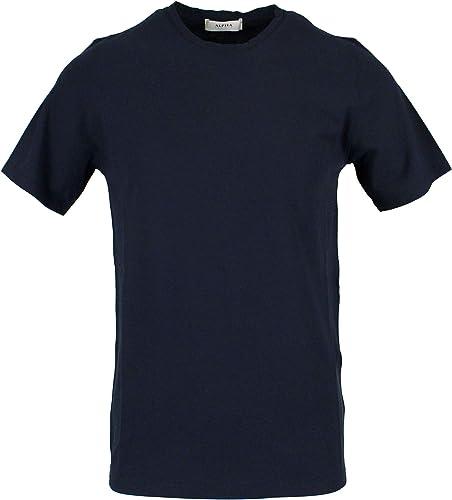 Alpha Studio Homme AU9450C6143 Bleu Coton T-Shirt