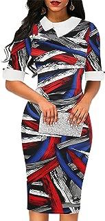 Women's Retro Doll Collar Knee-Length Formal Pencil Dress