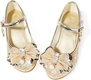 Waloka Flower Girls Dress Wedding Party Bridesmaids Heel Mary Jane Princess Shoes
