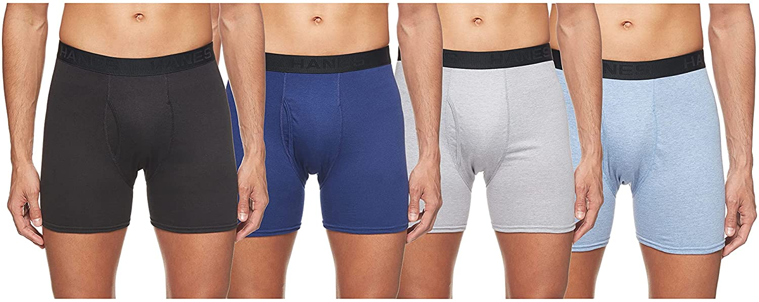 Hanes Ultimate Men's 4-Pack Comfortblend Boxer Briefs with FreshIQ