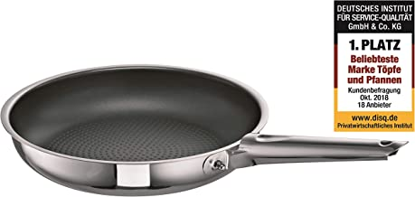 Schulte-Ufer Frying Pan Romana i XXStrong, Grill Pan, Stainless Steel 18/10, 24 cm, 6866-24 i