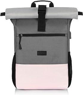 Mochila Mujer, 15.6-17.3 Pulgadas Mochila Ordenador Portatil con Puerto de Carga USB para la Escola, Universidad, Viajes, Negocios